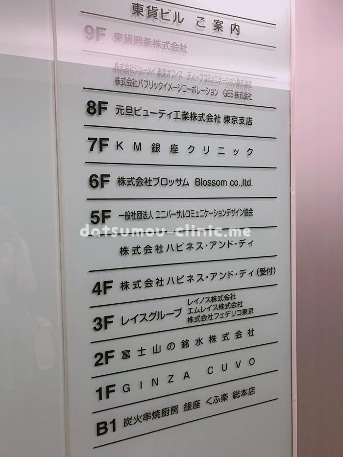 KM銀座クリニックアクセス