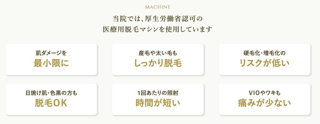 アイエスクリニック機械の特徴